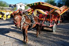 Free Horse-drawn Cart On Flagging Royalty Free Stock Photo - 4154655