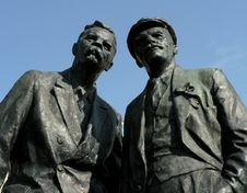 Monument To Gorkiy And To Lenin Stock Image