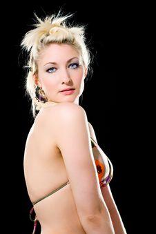 Free Blue Eyes Blond Caucasian Woman Royalty Free Stock Photo - 4155715