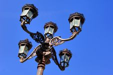 Portugal, Ponte De Lima: Wonderful Antic Lamppost Stock Images