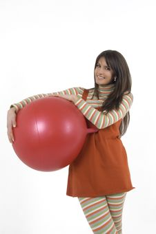 Free Girl With Training Ball Royalty Free Stock Images - 4156279