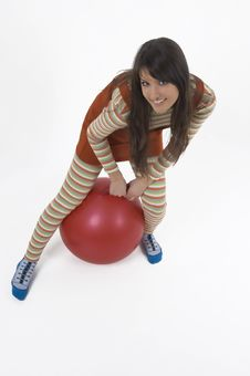 Free Girl With Training Ball Royalty Free Stock Photo - 4156285