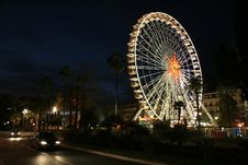 Ferris Wheel In The City Of Nice Royalty Free Stock Photography