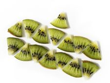 Free Triangular Slices Kiwi Fruit Royalty Free Stock Image - 4156826