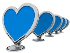 Free Monitors Of Love Royalty Free Stock Photos - 4156998