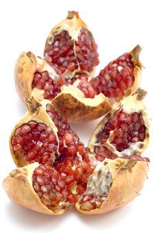 Free Ripe Pomegranate On White Royalty Free Stock Photo - 4157065