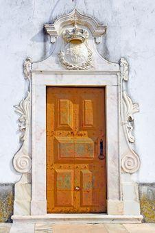 Free Portugal, Area Of Alentejo: Castle S Door Stock Photography - 4157352