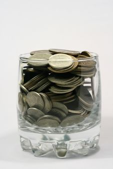 Free Coins In Glass Stock Photo - 4158390