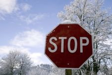 Free Stop Sign Royalty Free Stock Photo - 4158695