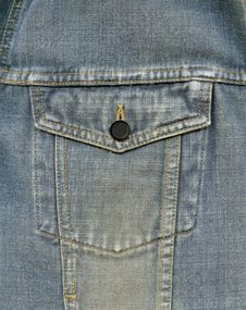 Jean Pocket Royalty Free Stock Photo