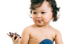 Free Child With Chocolate. Stock Photography - 4158792