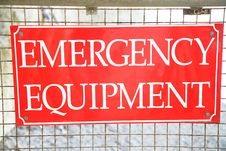 Free Sign Emergency Equipment Stock Photos - 4159063