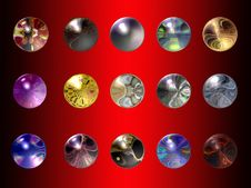 Free Glass Spheres Royalty Free Stock Image - 4159096