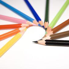 Free Pencils On White Background Royalty Free Stock Photos - 4159708