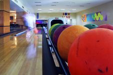 Free Close-up Of The Colored Bowling Balls Stock Photo - 4159750