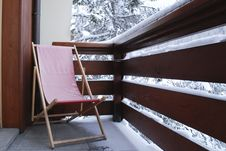 Free Winter Deck-chair Royalty Free Stock Image - 4159776