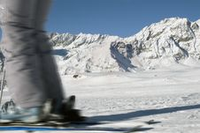 Free Skier On A Background Of Mountains Stock Images - 4159884