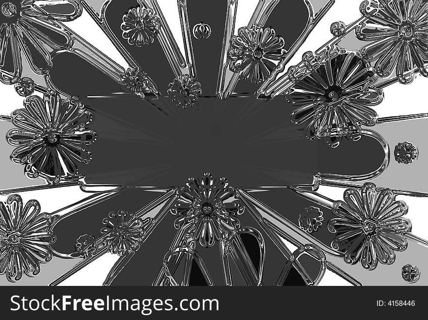 Liquid Flowers Graphic