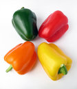 Free Four Multiple Colored Peppers Royalty Free Stock Image - 4160396