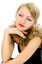 Free Beauty Woman In Fur Stock Image - 4162591