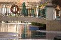 Free Bridge Over Pool Stock Photo - 4165150
