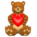 Free Bear In Love Royalty Free Stock Image - 4165166