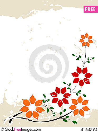 Free Grunge Floral Background Stock Images - 4164794