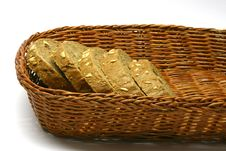 Free Basket With Bread Royalty Free Stock Photography - 4160267