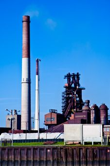 Industrial Chimney Stack Stock Photo