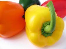 Free Four Multiple Colored Peppers Royalty Free Stock Photo - 4160385