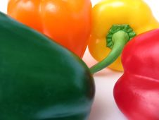 Free Four Multiple Colored Peppers Royalty Free Stock Photos - 4160398