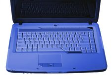 Free Nice Laptop Keyboard In Blue Stock Photography - 4160612