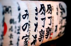 Free Japanese Paper Lanterne Perspective Stock Photography - 4161002
