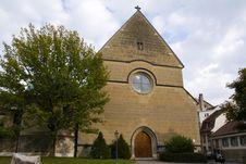 Free Catholic Church In Fribourg. Switzerland Stock Photo - 4161220