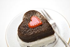 Free Heart-shaped Chocolate Cake Royalty Free Stock Photos - 4161618