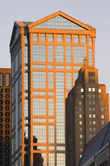 Evening In Downtown Chicago. Royalty Free Stock Image