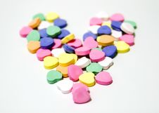 Free Candy Hearts Royalty Free Stock Images - 4162389