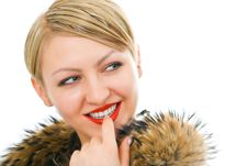 Free Beauty Woman In Fur Stock Photos - 4162573