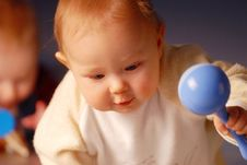 Free Baby With A Toy Royalty Free Stock Images - 4163169