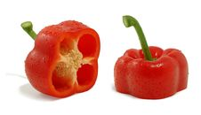 Red Fresh Pepper Stock Photography