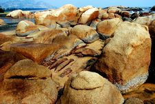 Free Great Boulders By The Seaside Stock Photography - 4163382