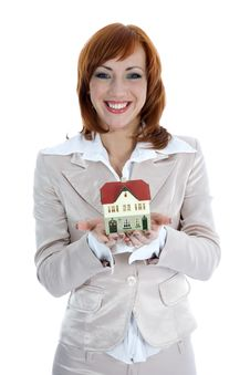 Free Business Woman Advertises Real Estate Stock Photography - 4163522