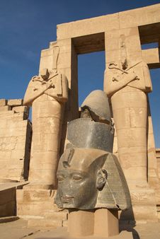 Head Of The Statue Of Ramesses II Stock Photo