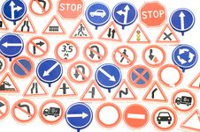 Free Road Sign Background Royalty Free Stock Photography - 4164437
