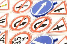 Free Toy Road Sign Macro Royalty Free Stock Photos - 4164498