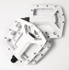 Free White Bicycle Platform Pedals Royalty Free Stock Photography - 4164587