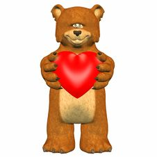 Free Bear In Love Royalty Free Stock Images - 4165109