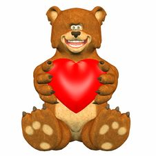 Free Bear In Love Stock Images - 4165174