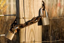 Free Old Locks And Chain Stock Photography - 4165192