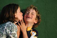 Free Girl Teasing A Boy Royalty Free Stock Image - 4166626